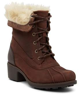 Merrell Chateau Mid Lace Faux Fur Trimmed Waterproof Boot