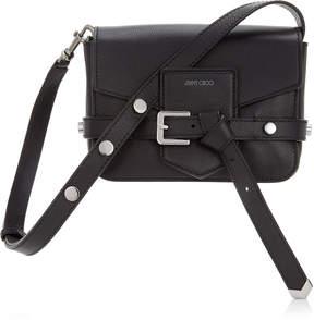 Jimmy Choo LEXIE/S Black Soft Grained Calf Leather Cross Body Bag