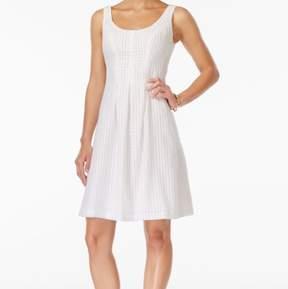 Nine West Women's Sleeveless Scoop-Neck Fit & Flare Dress