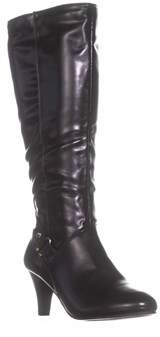 Karen Scott Ks35 Harloww Wide Calf Knee-high Boots, Black.