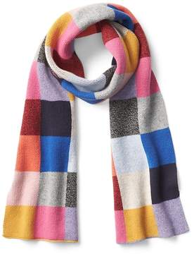 Gap Wool blend pattern scarf