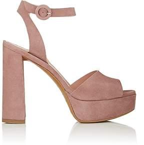 Barneys New York Women's Suede Ankle-Strap Platform Sandals