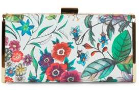 Jessica Mcclintock Heather Tropical Floral Clutch