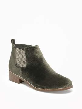 Old Navy Velvet Sparkle Chelsea Boots for Girls