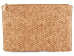 Madison Woven-Texture Pouch