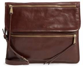 Hobo Vista Calfskin Leather Messenger Bag - Brown