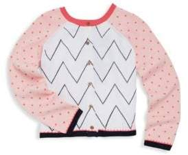Catimini Little Girl's & Girl's Pattern Knit Cardigan