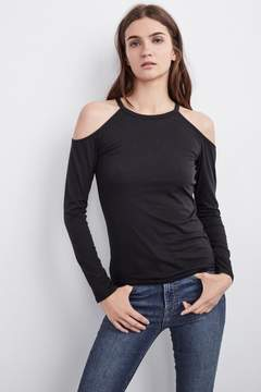 Velvet by Graham & Spencer IVANA GAUZY WHISPER COLD SHOULDER TEE