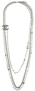 Chanel Crystal CC Multistrand Necklace