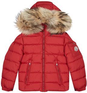 Moncler Byron Fur Trim Coat