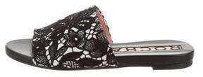 Rochas Lace Slide Sandals w/ Tags
