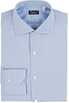 Finamore Men's Cotton Herringbone-Weave Dress Shirt