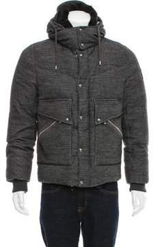 Moncler Gamme Bleu Fur-Trimmed Down Jacket