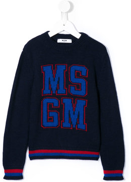 MSGM logo knitted pullover