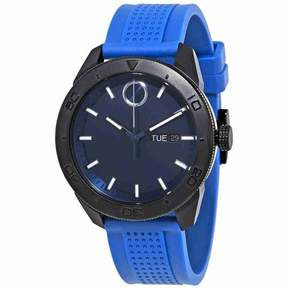 Movado Bold Blue Dial Men's Rubber Watch 3600459
