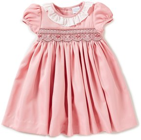 Edgehill Collection Baby Girls 3-24 Months Short-Sleeve Smocked Dress