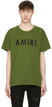 Amiri Green Vintage Logo T-Shirt