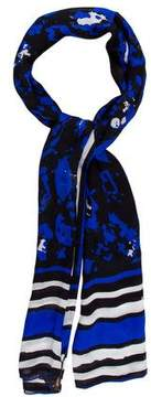 Roberto Cavalli Printed Silk Sacrf