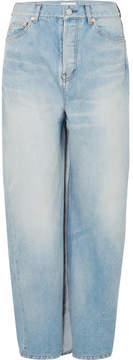 Balenciaga High-rise Wrapped Wide-leg Jeans - Blue