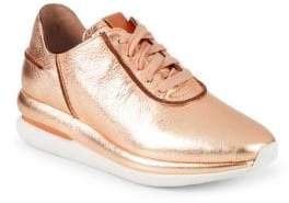 Gentle Souls By Kenneth Cole Raina Lace-Up Leather Sneakers