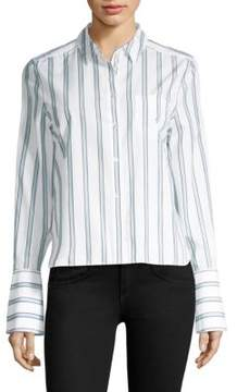 Equipment Huntley Cotton Striped Blouse