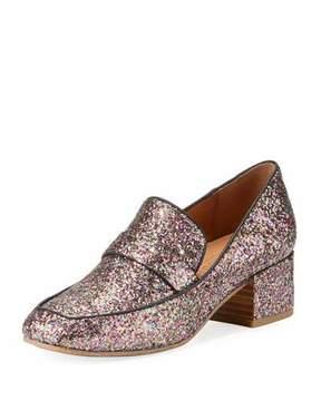 Gentle Souls Eliott Low-Heel Glitter Leather Loafer