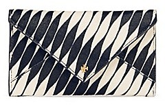 Tory Burch Printed Calf Hair Envelope - TWISTED STRIPE - STYLE