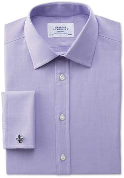 Charles Tyrwhitt Slim Fit Oxford Lilac Cotton Dress Shirt French Cuff Size 15/35