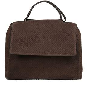 Orciani Large Logo Plaque Tote