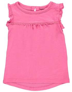 Carter's Little Girls Ruffle-Sleeve Tank Top Pink