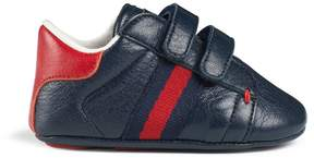 Gucci Baby leather sneaker with Web