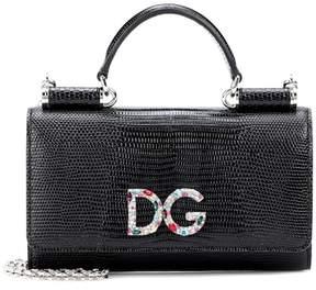 Dolce & Gabbana Von leather shoulder bag