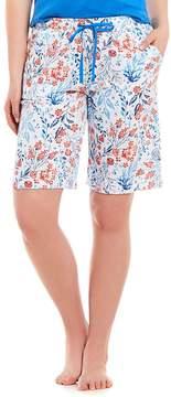 Karen Neuburger Floral Bermuda Sleep Shorts