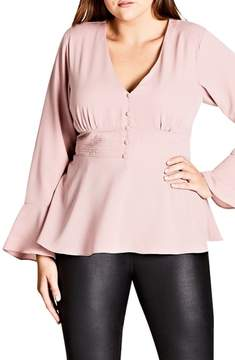 City Chic Button Up Top