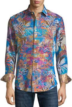 Robert Graham Limited Edition Kingpin Louie Printed Sport Shirt