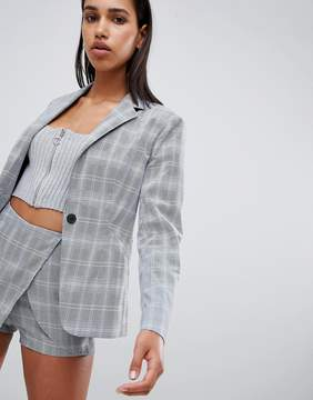 Parallel Lines waisted blazer