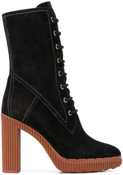 Tod's midi lace-up boots