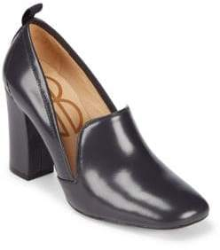 Bill Blass Laverne Leather Closed Toe Pumps