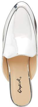 Charlotte Russe Qupid Metallic Loafer Mules