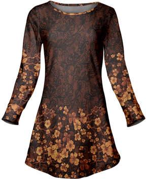 Azalea Brown & Tan Floral Scoop Neck Tunic - Women & Plus