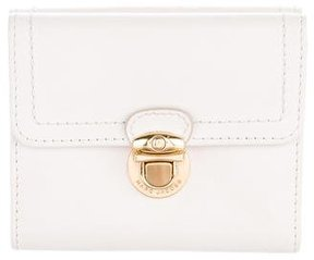 Marc Jacobs Leather Compact Wallet - NEUTRALS - STYLE