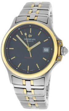 Raymond Weil Parsifal 9090 Stainless Steel Gold Quartz Mens 36mm Watch