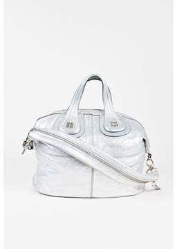 Givenchy Pre-owned Metallic Silver Pebbled Leather nightingale Shopper Bag.