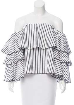 Caroline Constas Gabriella Off-The-Shoulder Top