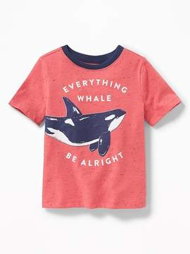 Old Navy Everything Whale Be Alright Tee for Toddler Boys