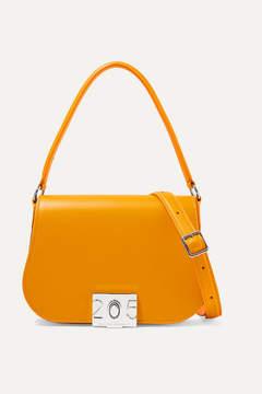 Calvin Klein Bonnie Grosgrain-trimmed Leather Shoulder Bag - Yellow