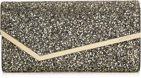 Jimmy Choo ERICA Gold Mix Star Coarse Glitter Fabric Clutch Bag