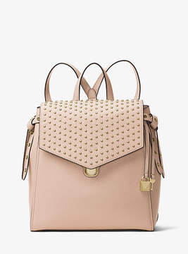 Michael Kors Bristol Medium Studded Leather Backpack - PINK - STYLE