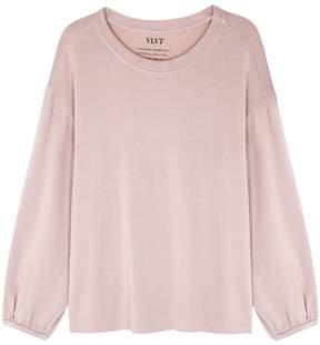 Velvet by Graham & Spencer Ember Dusky Pink Jersey Sweatshirt