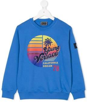 Versace sunset motif sweater
